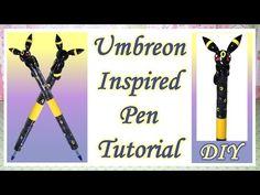 Pokémon Umbreon Inspired Pen Polymer Clay Tutorial
