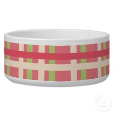 KRW Raspberry Lime Plaid Large Pet Dish