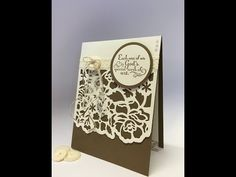 Floral Phrases Wedding card with Detailed Floral Thinlits from Stampin' Up! - YouTube