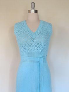 84c1f0f7c74 70s St. John Knits dress size sm - med   vintage knit dress