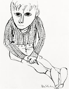 cityzenart: Ben Shahn History Of Illustration, Illustration Art, Line Doodles, Ben Shahn, San Francisco Museums, Drawing Studies, Jewish Art, Zen Art, Art Archive