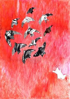 "Saatchi Art Artist Milena Vuckovic; Drawing, ""Dog who Barked at Birds"" #art"