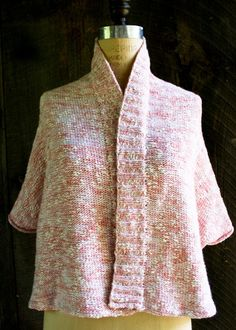 Prewrapped Wrap Free pattern, simple cover-up for chilly air conditioned rooms that will not slide off shoulders.