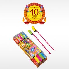 Celebrate this #Dilwali, the festival of lights with great enthusiasm and zeal with COLOUR RAINBOW ROCKETS and get 40% off on #Diwali crackers only at #BringHomeFestival