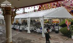 This 10 x 20 tent is offered for a small party gatherings in United States. Shelter outdoor party gazebo and clear span tents can be installed with glass or hard sides and white or clear tops. Party Gazebo, A Frame Tent, Shelter Tent, Temporary Structures, Side Wall, Arch, Fair Grounds, Tents, Outdoor Decor