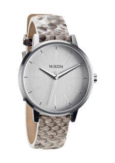 Nixon White Snake A108-843 Kensington Leather Women's Analog Watch Python Leather Strap NIXON http://www.amazon.com/dp/B00A1XJE1W/ref=cm_sw_r_pi_dp_iDfOvb098HP7A