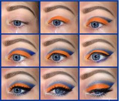 How to become a Broncos fan in a few steps! ~Paisley Peacock Makeup~