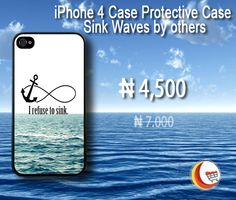 Shop this cool #iPhone4 #Case Protective Case Sink Waves by others From Blessing Computers Limited .Just pay ₦4,500 to get it at http://www.blessingcomputers.com/products/B0MXI9W6T5-iPhone-4-Case-Protective-Case-Sink-Waves-by-others.html