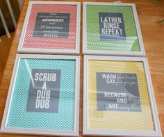 Home Everyday: Almost There: Bathroom Art and FREE PRINTABLES