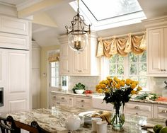 Kitchen - love this window treatment.  Easy!