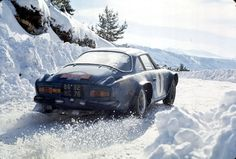 Renault  Alpine A 110 - 1800. The Alpine A110 is a sports car of the French car manufacturer Alpine, which was produced from 1962 to 1977. It was created as an evolution of the A108 Berlinetta and for many years has been used successfully in the international racing and rallying. The best-known achievements are the victories in the Monte Carlo Rally, winning the European Championship in rally racing and winning the World Rally Championship 1971 and 1973.