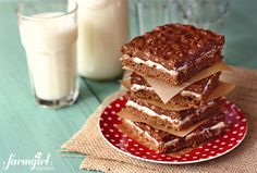 Double Chocolate Marshmallow Crispy Bars.