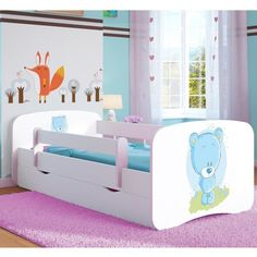 1202889b31a Harriet Bee Anna Cabin Bed with Mattress and Drawer