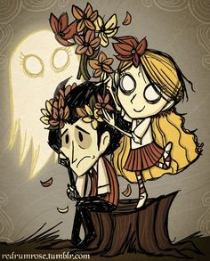 Wendy Wilson and abigail - how many hours I spent building up resources in Don't Starve