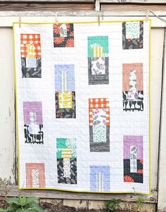 Follies Baby Quilt Tutorial | Go cute and quirky with this fun baby quilt tutorial!