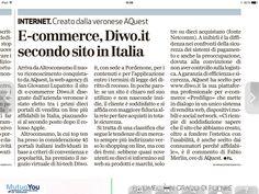 L'Arena parla di Diwo, nella top 5 Altroconsumo dei siti #ecommerce più affidabili