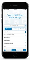 ESRB Rating Search App - Home Screen