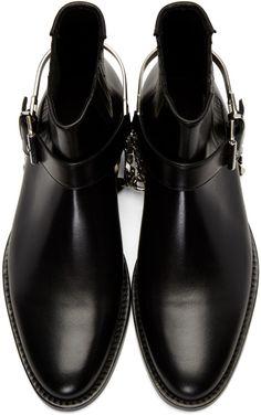 - Balmain - Black Eperon Boots
