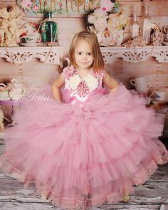 Monique tutu dress in mauve pink, custom colors available - Vintage Romance collection 2013