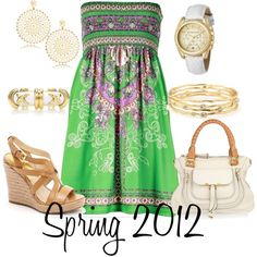 Spring Green,   created by dina1987 on Polyvore
