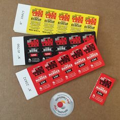 Foods and drinks tickets