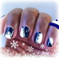 I created the easiest snowflake nail art ever with #FormulaX for Sephora. 3 polishes (Wham, Orbit and White Matter), 3 steps. #sephora #winter