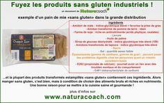 ALERTE ! Fuyons les produits sans-gluten industriels !! Raison de + de cuisiner un maximum maison. #dangers #sansgluten #industriel