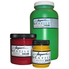These work great for painting on fabric and leaving the fabric soft. JACQUARD TEXTILE COLORS FABRIC PAINTS