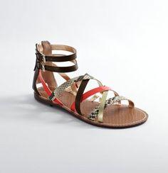 Add a little pop of color! Gisela Multi Strap Sandals. #LOFTSummerGetaway