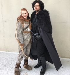 Pin for Later: 21 Sweet Game of Thrones Costume Ideas For Couples Ygritte and Jon Snow