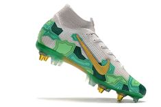 Nike Mercurial Superfly Walking Barefoot, Lace Socks, Superfly, Grey And Gold, High Level, High Cut, Nike, Boots, Soccer