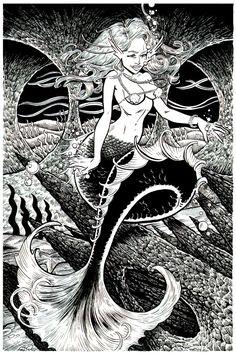 The Mermaids Cave Revisited by DavidAyala.deviantart.com on @deviantART