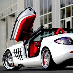 White SLR with a cherry red interior!  Gorgeous!