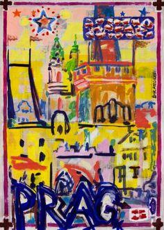 "Saatchi Art Artist Borai Kahne Ateliers; Painting, ""European Capital Cities - Prag"" #art"