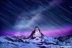 Startrails Matterhorn by Stanley Chen Xi on 500px
