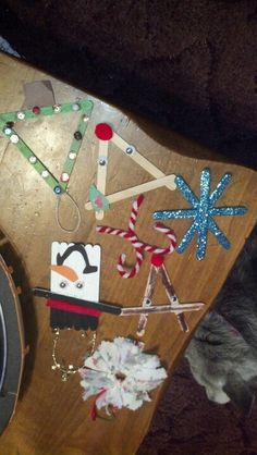 Homemade ornaments.  Craft for 2nd grade Class party???