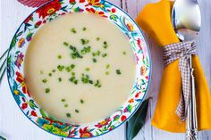 Slow Cooker Potato, Leek & Corn Chowder--This chowder is comfort food with less fat, because we took replaced the cream with Greek yogurt.  #Greekyogurt #slowcooker #crockpot #potatochowder