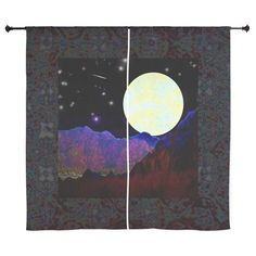"Valley of the Moon 60"" Curtains by Jan4insight Designs on Cafepress > SOLD 2 pairs of curtains, 11.14.15"