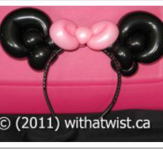 Minnie Mouse balloon art headband.
