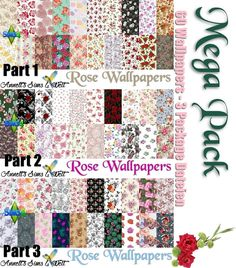 Sims 4 CC's - The Best: Mega Pack - 60 Rose Wallpapers