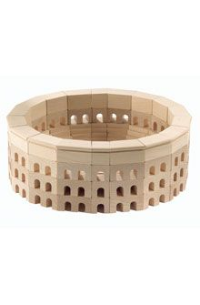 The Coliseum in building blocks for kids - cool.