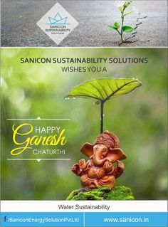 Cherish God's gift of #nature, let's replenish the #environment for our future. Sanicon Sustainability Solution Pvt. Ltd. wishes you a #HappyGaneshChaturthi.