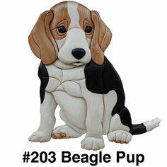 Intarsia beagle puppy