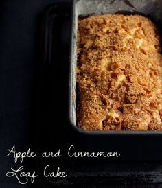 Apple and Cinnamon Loaf Cake [Made - less sugar, more cinnamon would be fine]