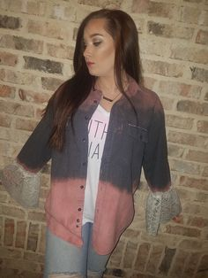 Distressed vintage flannel by MSVintageBliss on Etsy