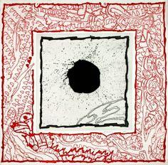 Pierre Alechinsky - SOLEIL NOIR I