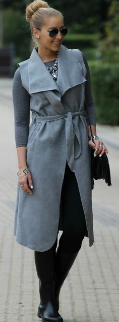 Shades Of Gray Fall Inspo by Style and Blog