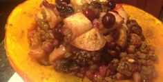 The Engine 2 Diet |   Cranberry Apple Stuffed Kabocha Squash
