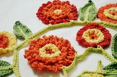 crochet marigold - #Crochet flower patterns for ten types of flowers @becraftsy