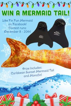 She would soo love this ... Sarah would too!! :) Enter to win a Mermaid Tail with Monofin from Fin Fun Mermaid! Ends 12/20.